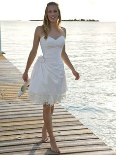 Beach wedding dress wedding