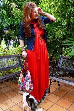 red maxi dress!
