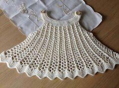 Esquemas de vestidos de niña a crochet - Imagui