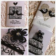 Engagement & Wedding handmade greeting cards by OSONiA Designs