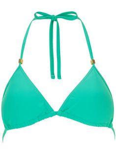Green Triangle Bikini Top