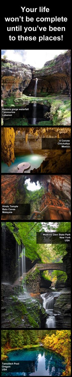 Some of the world's most beautiful places. Now on the bucket list.