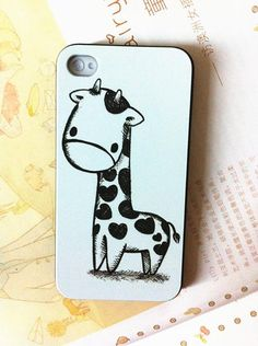 $59.02 Apple phone shell protective shell of iphone4s / 5 iphone4 illustrator pencil drawing love giraffes new- http://zzkko.com/book/shopping?note=13098