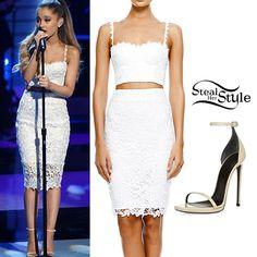 Ariana Grande Skirt | Ariana Grande: White Lace Bustier & Skirt ...
