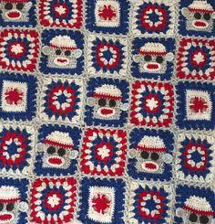 Sock Monkey Crochet Blanket PDF - Sock Monkey Granny Squares Lap Blanket, Pdf Patterns, Granny Squares, Beautiful Patterns, Crochet Lace, Cute Babies, Monkey, Socks, Handmade