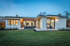 Passive-inspired home construction: What you need to know Contemporary House Plans, Modern House Plans, Modern House Design, My House Plans, Small House Plans, L Shaped House, Flat Roof House, Modern Bungalow House, Home Exterior Makeover