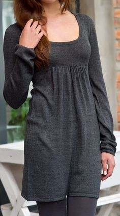 Grey tunic with long sleeves by NewstyleNataly on Etsy https://www.etsy.com/listing/89609176/grey-tunic-with-long-sleeves