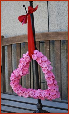 The Little Apple Seed: Valentine's Day Coffee Filter Wreath