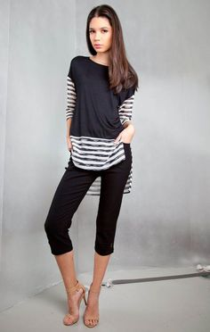 Stripes and Solids Top