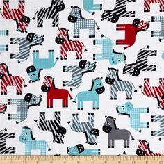 Urban Zoologie Zebra's Celebration from @fabricdotcom  Designed by Ann Kelle for Robert Kaufman Fabrics, this fabric is perfect for quilting, apparel and home décor accents. Colors include aqua, grey, black and white.