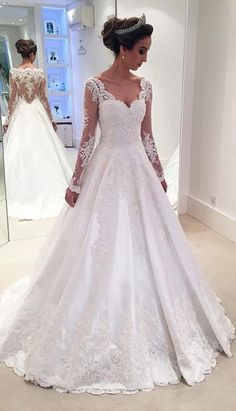 Floor length Wedding Dresses, White Floor length Wedding Dresses, Floor-length Long Wedding Dresses, Floor-length Wedding Dresses, Long Wedding Dresses, Long Sleeves Lace A-line High Low Long White V-neck Wedding Dresses, White Lace dresses, Lace Wedding dresses, High Low Dresses, Long White dresses, High Low Wedding Dresses, White Long Dresses, Long Lace dresses, White Wedding Dresses, Lace White dresses, Floor Length Dresses, White High Low dresses, Long White Lace dresses, Wedding D...