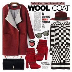 """""""Cold Weather Essentials: Wool Coat"""" by katjuncica ❤ liked on Polyvore featuring ALDO, Valentino, Bobbi Brown Cosmetics, Ray-Ban and woolcoat"""