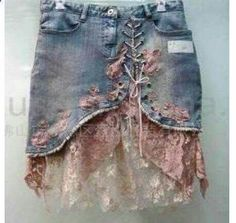 Add to denim skirt