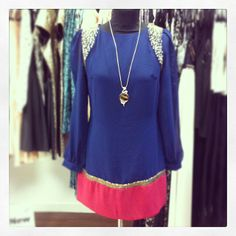 Little Mistress Embellished Tunic #Dress sizes 8 - WAS £50 NOW £20 #pendant #necklace - £6 #feathersboutique #liverpool #newin #aw13