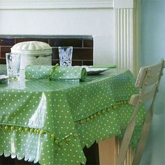 Make a beaded tablecloth