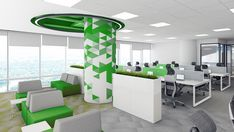 Technology expressed through design Name: Huawei Category: Office Renders: IVA STUDIO Concept: Prographic Architecture Studio . 3d Interior Design, Office Decor, Concept, Technology, Studio, Architecture, Building, Furniture, Home Decor