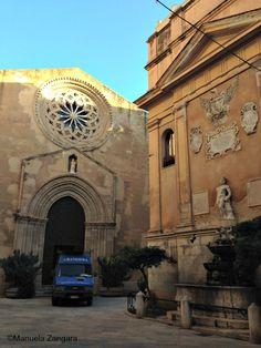 Church of Sant'Agostino in Piazzetta Saturno in the own town Trapani
