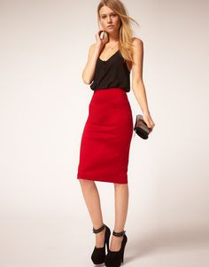 Crimson Pencil Skirt ($27)