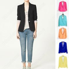 Discount China china wholesale New Girl Candy Business Wear Wester Top Suits Formal Career Coat Jacket Casual [31181] - US$23.74 : DealsChic