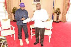 1d1b55bb153 US rapper Ye - previously known as Kanye West - has met Uganda s President  Yoweri Museveni