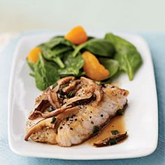 Sautéed Bass with Shiitake Mushroom Sauce Recipe; maybe for the sauce with some other meat