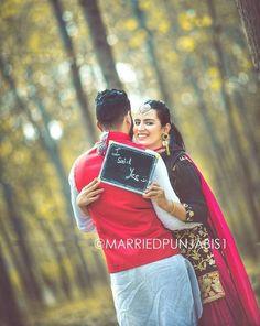 #Ghaint punjabi Pre Wedding Poses, Wedding Couple Poses Photography, Indian Wedding Photographer, Pre Wedding Photoshoot, Punjabi Wedding Couple, Punjabi Couple, Desi Wedding, Romantic Couple Images, Romantic Couples