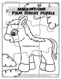 Palm Sunday Word Search Bible Activity on Sunday School
