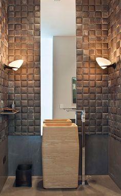 cabbagerose: contemporary texture: Truesdale bath / William Hefner via: japanesetrash