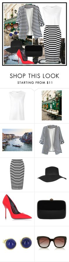 """""""Stripes lover"""" by dianaobruchnikova ❤ liked on Polyvore featuring T By Alexander Wang, Burberry, Alexander Wang, Topshop, Kurt Geiger, Rocio, Thierry Lasry, MICHAEL Michael Kors, love and stripes"""