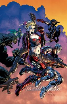 #Suicide #Squad #Fan #Art. (SUICIDE SQUAD MOST WANTED: EL DIABLO/BOOMERANG #2 Cover) By: JIM LEE & SCOTT WILLIAMS. (Katana, Harley Quinn, Enchantress, Killer Croc, Deadshot, Captain Capt,  Boomerang) (THE * 5 * STÅR * ÅWARD * OF: * AW YEAH, IT'S MAJOR ÅWESOMENESS!!!™) ÅÅÅ+