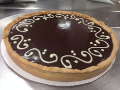 Chocolate Ganache Tart ( Tarte au ganache chocolat ) 2