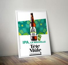 AFFICHE PACKAGING BIERE  IPA GRAPHISME Ipa, Packaging, Pure Leaf Tea, Design Graphique, Pure Products, Drinks, Bottle, Blonde Ale, Graphic Design