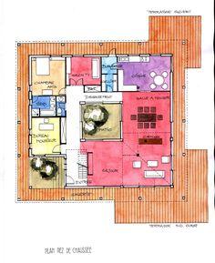 plan maison patio de plain pied plan maison pinterest plain pied plans maison et patios. Black Bedroom Furniture Sets. Home Design Ideas