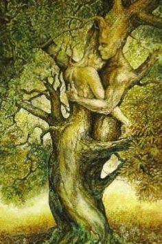 New Tree Of Life Artwork Fantasy Pictures Ideas Illusion Kunst, Illusion Art, Tree Of Life Artwork, Tree Art, Goddess Art, Fantasy Pictures, Illustration, Couple Art, Black Art