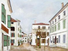 Maurice Utrillo Town Hall Plaza In A Provançal Village oil painting reproductions for sale