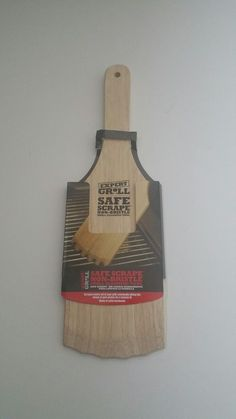 Wood Grill Scraper by Expert Grill Natural Wood BBQ Grill Clean Tool Alternative #EXPERTGRILL