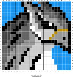 Buckbeak | Designed by PixiTrix (Kimberly Allard) | Stitch Fiddle - Stitch…