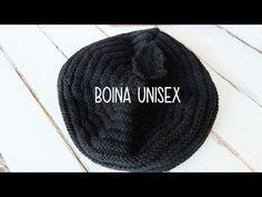 Boina fácil tejida en dos agujas (con agujas rectas, no circulares) - YouTube