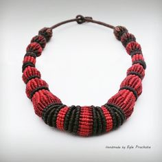 Knot Knot. Whos there? Knot. Knot who? Knotted specially for You. Handmade micro macrame statement choker/necklace. This piece is very special as