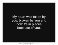 Heart Sad Love Quote 1. Picture Quotes.