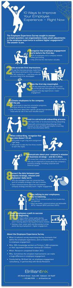 Infographic: 10 ways to improve employee engagement #health #epatient