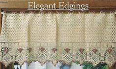 "crochet curtains patterns free   ... 30M CROCHET PATTERN FOR: ""Blushing Rose"" Curtain Valance Avg. Skill"