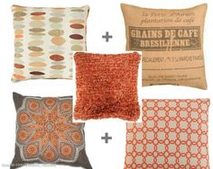 I love these pillows....4 Simple Rules for mixing pillows.