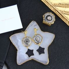 Black Independent Designers African American Clothing, American Apparel, Black Star, Statement Earrings, Gemstones, Stars, Gold, Designers, Clothes