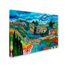"""Valley House"" by Manor Shadian Painting Print on Canvas"