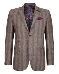 Check blazer - Brown | Jackets & Blazers | Ted Baker