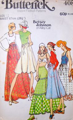 Vintage Sewing Pattern: Butterick 4089 (1978) ~ looks like skirts only (link is broken)
