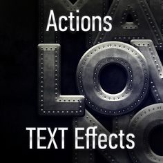 = Cover = Actions - TEXT Effects (Photoshop) #Text #Effects #Actions #PSAction #Photoshop #PS #Graphicriver #Design #TextEffects #inspiration #crestive #words #letter