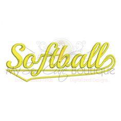 Softball Applique Designs Machine Embroidery Designs