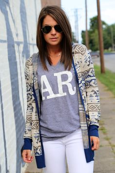A Touch of Navy {Cardi}